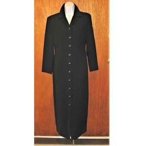 Talbot's Poly Long Coat Sz 6 black